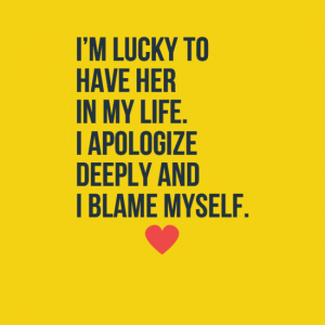 Apology quotes for her