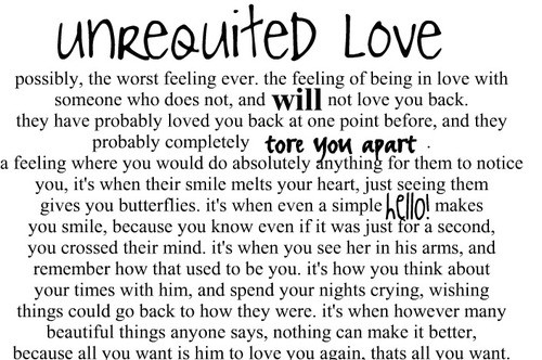 My love is unrequited
